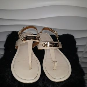 Coach Caterine Ivory Patent Leather Sandals